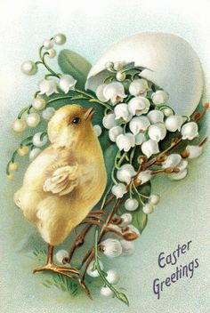 Easter Postcards + other Vintage Easter Goodies Easter Art, Easter Crafts, Easter Bunny, Easter Chick, Decoupage, Easter Pictures, Diy Ostern, Easter Parade, Easter Printables