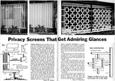 Mid-Century Living: Wood Privacy Screens