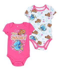 Disney Pixar Finding Dory Nemo And Dory Make A Splash 2 Pc Onesie Set - Space City Kids Clothing Twin Baby Clothes, Disney Baby Clothes, Baby Disney, Babies Clothes, Disney Moms, Pink Clothes, Babies Stuff, Children Clothes, Disney Pixar