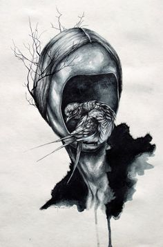 "ANGELA DI FOLCO - Paintings & Illustrations: ""HOLLOW"""