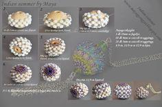 Maya gyöngyei: Indián nyár- minta / Indian summer with pattern