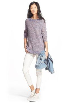Paige Denim Jacket, Hinge Sweater & Treasure&Bond Jeans available at #Nordstrom