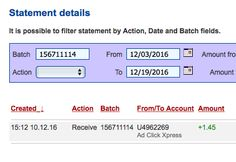 ACX is the MOST POWERFUL & SIMPLEST PROGRAM ONLINE! New 30/70 Rule GUARANTEES... Here is my Withdrawal Proof from AdClickXpress. I get paid daily and I can withdraw daily. Online income is possible with ACX, who is definitely paying - no scam here.I WORK FROM HOME less than 10 minutes and I manage to cover my LOW SALARY INCOMEhttps://www.facebook.com/photo.php?fbid=350529518656754&set=a.151044818605226.1073741828.100010991251641&type=3&theater