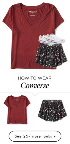 """""""Untitled #5178"""" by laurenatria11 on Polyvore featuring Aéropostale, Hollister Co. and Converse"""