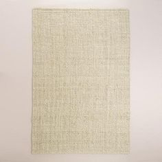 Dinins Room Rug? One of my favorite discoveries at WorldMarket.com: Bleached Ivory Basket Weave Jute Rug