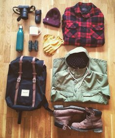 Outdoor essentials. Herschel, Timberland, Colour Wear, Gerber, Pendleton, Hestra gloves, Nikon Instagram: naturen_kallar
