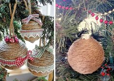 Christmas is the feast for the little great moments, traditions, but also for the creativity of each of us. Discover a playful kid inside you and have fun making your own ornaments, for example, string. Rustic Christmas Ornaments, Christmas Bulbs, Christmas Ideas, How To Make Ornaments, Crochet Clothes, Make Your Own, Projects To Try, Wraps, Holiday Decor