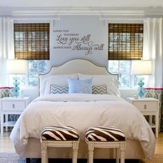"""""""Loved You Yesterday Love You Still Always Have Always Will"""" vinyl lettering decor for your master bedroom. See more decals at www.lacybella.com"""