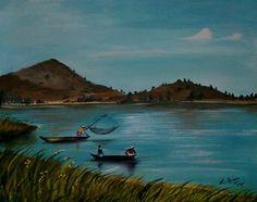 The Loktak Lake, Manipur, India