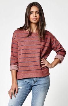 Lily Stripe Crew Neck Sweatshirt
