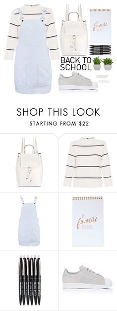"""""""back to school shopping"""" by mycherryblossom on Polyvore featuring French Connection, L.K.Bennett, Boohoo, adidas and BackToSchool"""