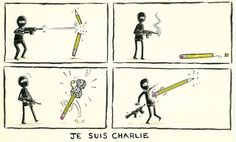Possibly the best #JeSuisCharlie cartoon yet. Credit to @RteeFufkin for the fantastic work.