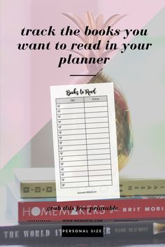 Personalize Your Planner: Books to Read http://www.wendaful.com/2016/10/personalize-planner-books-read/