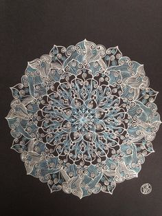 Silver and Metallic blue Mandala by mariagallery - Please consider enjoying some flavorful Peruvian Chocolate this holiday season. Organic and fair trade certified, it's made where the cacao is grown providing fair paying wages to women. Varieties include: Quinoa, Amaranth, Coconut, Nibs, Coffee, and flavorful dark chocolate. Available on Amazon! http://www.amazon.com/gp/product/B00725K254