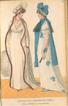 London Full Dresses, December 1800, Fashions of London & Paris