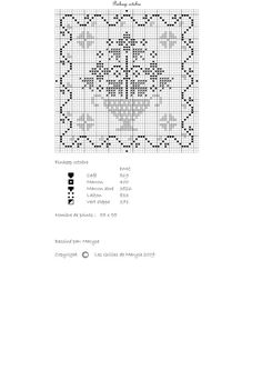 Pretty free cross stitch pattern; great floral design for pinkeep. Chart for FF.