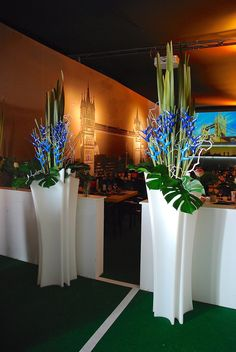 Birds Of Paradise And Alliums In A Glass Cube