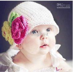 Sombreros para niña a crochet - Imagui