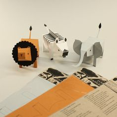 Paper Animals by Fideli Sundqvist #Kids #Paper_Animals #Fideli_Sundqvist