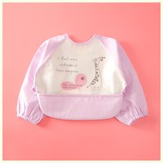 Competent Baby Apron Long Sleeve Feeding Waterproof Painting Smock Overcoat Burp Bib Kids Mother & Kids Clothing Sets