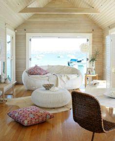 Coastal modern room with an ocean view