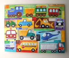 transportation room- inspired the ones i painted for Nathan's room