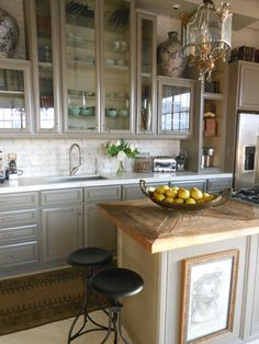 Kitchen with reclaimed wood island | Flickr - Photo Sharing!