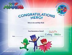 Create your own Super Hero Certificate! #PJMasks #DisneyJunior