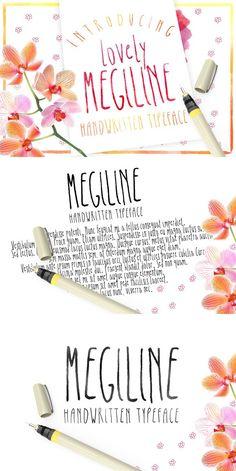 Megiline Typeface. Wedding Fonts. $10.00