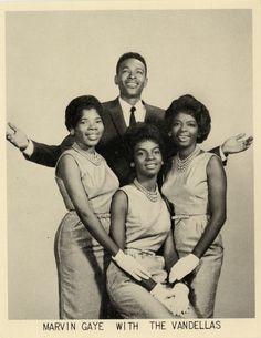 Marvin Gaye with the Vandellas