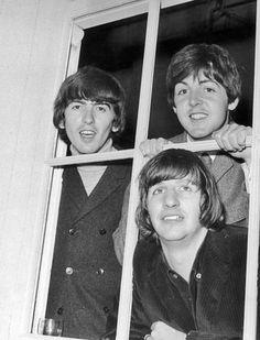 1965 - George Harrison, Paul McCartney and Ringo Starr.