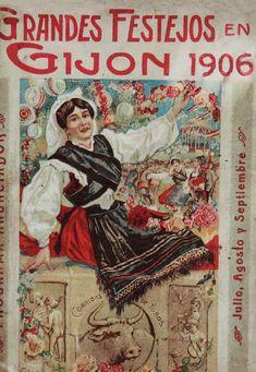 Fiestas en Gijón, Asturias, 1906