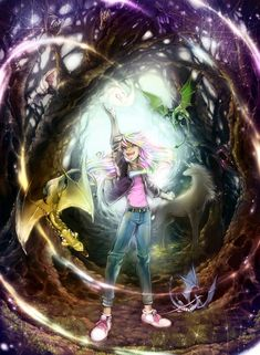 Avalon ~Web of Magic~   Kyra, the D-Flies, unicorn, and magic web