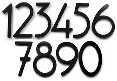 Bungalow Style House Numbers & Letters - Satin Black (5), Item#0302BL