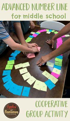 Number Sense Cooperative Group Activity - Apples and Bananas Education Integers Activities, Math College, 7th Grade Math, Sixth Grade, Seventh Grade, Math Intervention, Math Projects, Group Activities, School