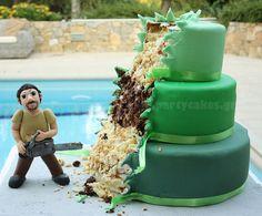 Chainsaw Cake ~ great Guy cake