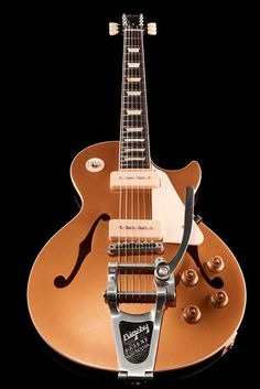 Gibson ES-Les Paul P-90 Gold Top Bigsby, Semi-Hollow, Electric Guitar, Memphis…