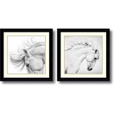 Amanti Art 'Flair and Attitude' by Phyllis Bruchett 2 Piece Framed Painting Print Set Framed Art, Black Wall Art, Wall Art Sets, Painting, Painting Prints, Art, Horse Wall Art, Painting Frames, Amanti Art