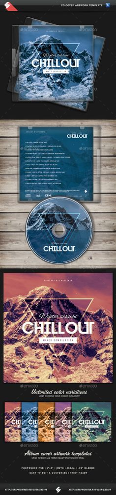 Winter Chillout - CD Cover Artwork Template PSD. Download here: http://graphicriver.net/item/winter-chillout-cd-cover-artwork-template/13623884?ref=ksioks