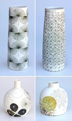 tania rolland - modamuse :: independent modern australian and nz designers, artisans & crafters Pottery Painting, Ceramic Painting, Pottery Vase, Ceramic Artists, Ceramic Pottery, Ceramic Tableware, Ceramic Clay, Porcelain Ceramics, Modern Ceramics