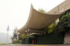 Main Entrance, Office of the United Nations Economic Commission for Latin America and the Caribbean in Santiago, Chile Architect: Emilio Duhart Completed in 1966
