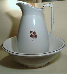 Tea Leaf Ironstone Bowl & Pitcher England, Excellent. | eBay