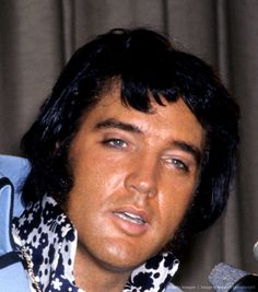"Elvis during the 'Madison Square Garden"" press conference, New York June, 1972"