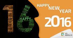 New Year FB post for City Hospital Ltd. #socialmedia #creativedesign #digitalmarketing
