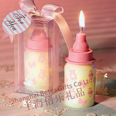 Free Shipping 100pcs Baby Shower Candle Favour BETER-LZ042 Birthday Party Souvenirs