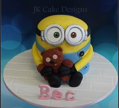 Bob minion cake Minions Bob, Cute Minions, Minions Funny Images, Minions Quotes, Funny Minion, Funny Jokes, Despicable Me Cake, Minion Cakes, Happy Birthday Minions
