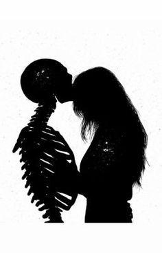 Image about love in arte 🎨 🌈 by nani bermudez on we heart it Dark Fantasy Art, Dark Art, Art Sketches, Art Drawings, Art Et Design, Satanic Art, Skeleton Art, Arte Obscura, Horror Art