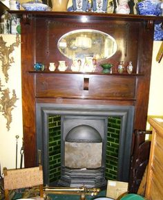 An Edwardian mahogany fire surround dating from around 1910