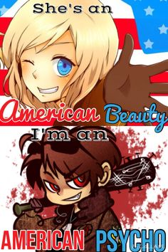 Hetalia x Fall Out Boy oh man>>>> YESH<<I don't even listen to Fall Out Boy and this is awesome!>>> XD <<<< Fall Out Boy is amazing. Hetalia is amazing. I CAN'T HANDLE IT *fangirl spasm attack* 2p America, Hetalia America, American Psycho, American Idiot, Hetalia Characters, Hetalia Axis Powers, Awesome Anime, Fall Out Boy, Hetaoni