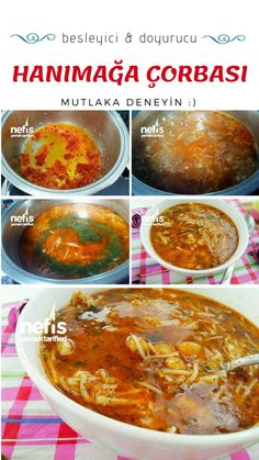 How to make Hanım Ağa Soup Recipe? Here is the illustrated description of the Hanım Ağa Soup Recipe in the book of people and the photos of the experimenters. Appetizer Recipes, Soup Recipes, Appetizers, Turkish Recipes, Ethnic Recipes, Turkish Kitchen, Wie Macht Man, Number Cakes, Food Articles